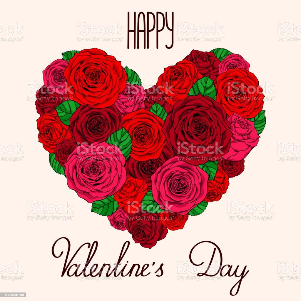 Valentinstag Herz Stock Vektor Art Und Mehr Bilder Von Band