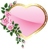 Vector illustration  valentines heart with roses