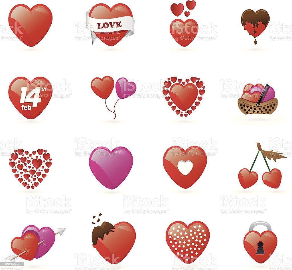 Valentines Hearts vector art illustration