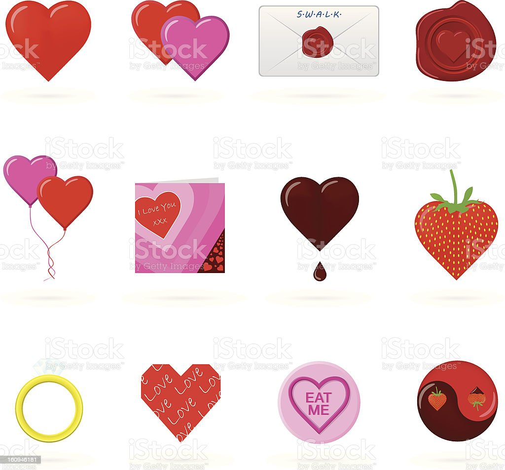 valentines icons 2 royalty-free valentines icons 2 stock vector art & more images of anniversary card