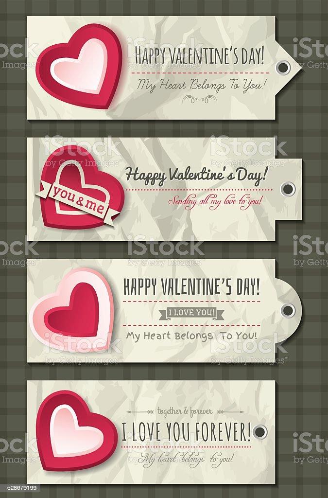 0eb1f3e667be0f Etiquetas Para Namorados Com Corações Decorativos Vector - Arte ...