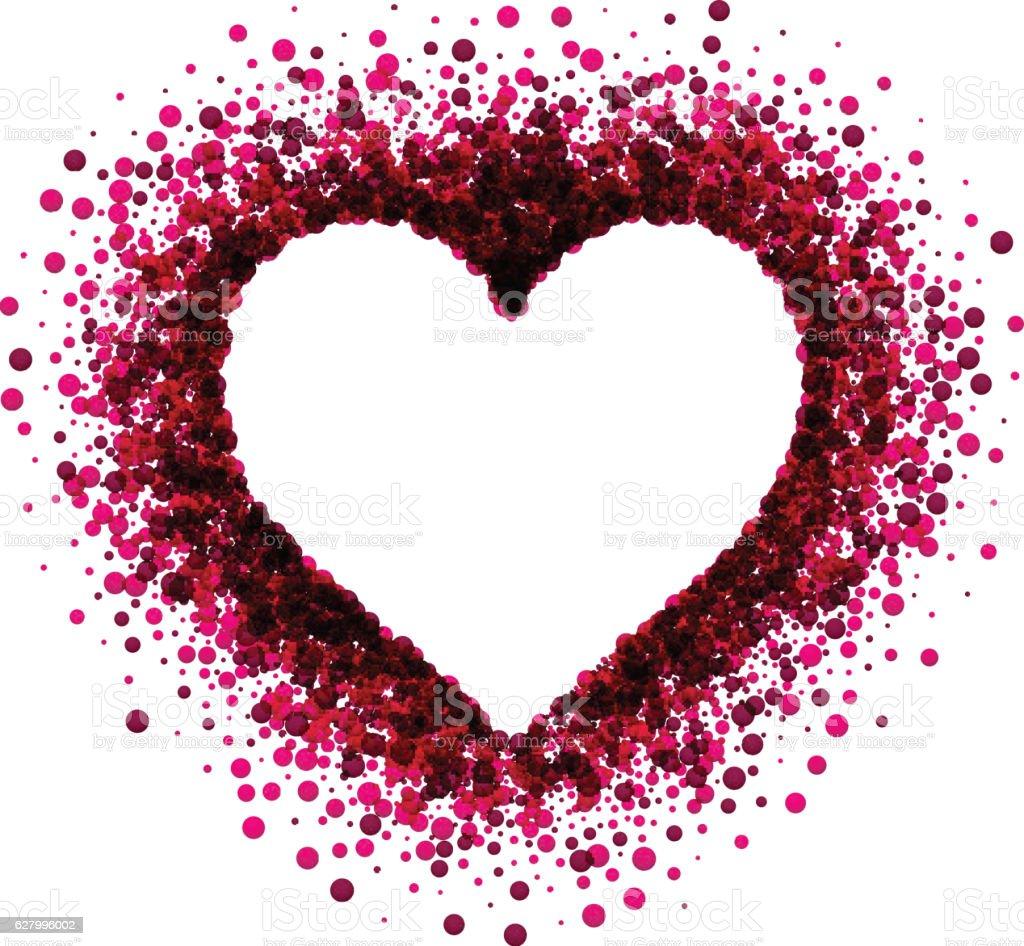 Vetores De Valentines Love Background With Heart E Mais Imagens De Amor Istock