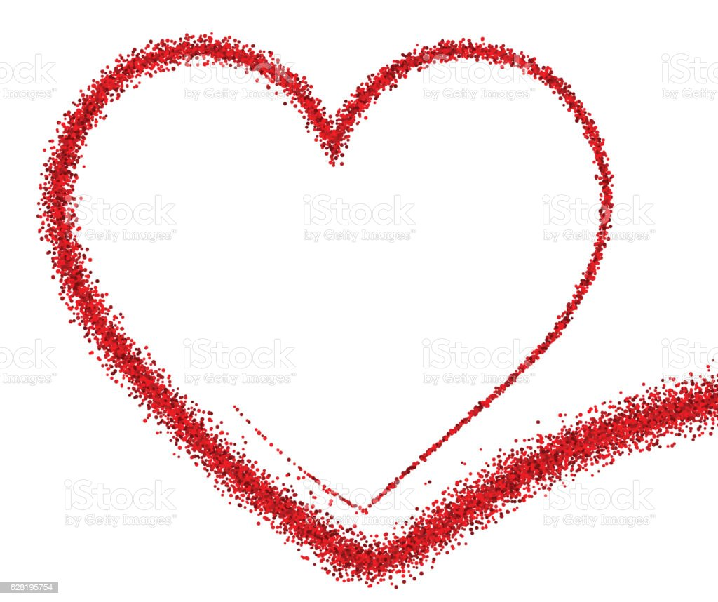 Vetores De Valentines Love Background With Heart E Mais Imagens De Abstrato Istock