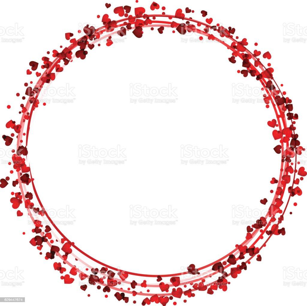 valentines love background with hearts お祝いのベクターアート素材