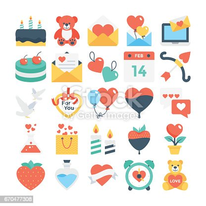Valentines, Love, Romance, Marriage Vector Icons 2
