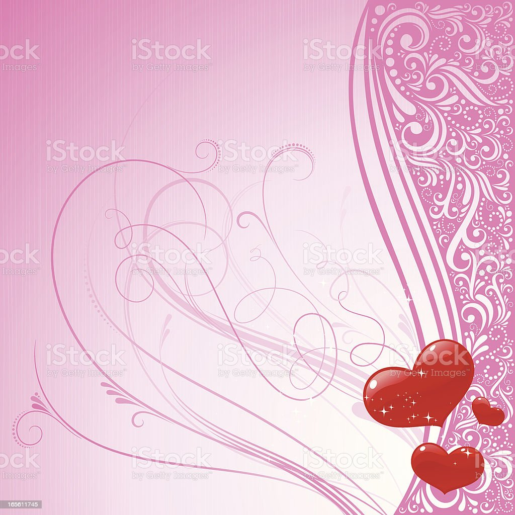 Valentines Pink Background royalty-free valentines pink background stock vector art & more images of backgrounds