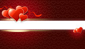 Drawn of vector blank romance banner. This file of transparent and created by illustrator CS6.