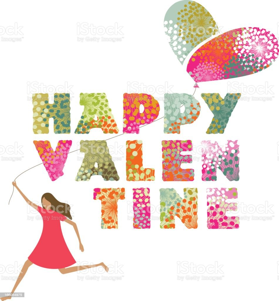 Valentine's text and girl royalty-free valentines text and girl stock vector art & more images of abstract