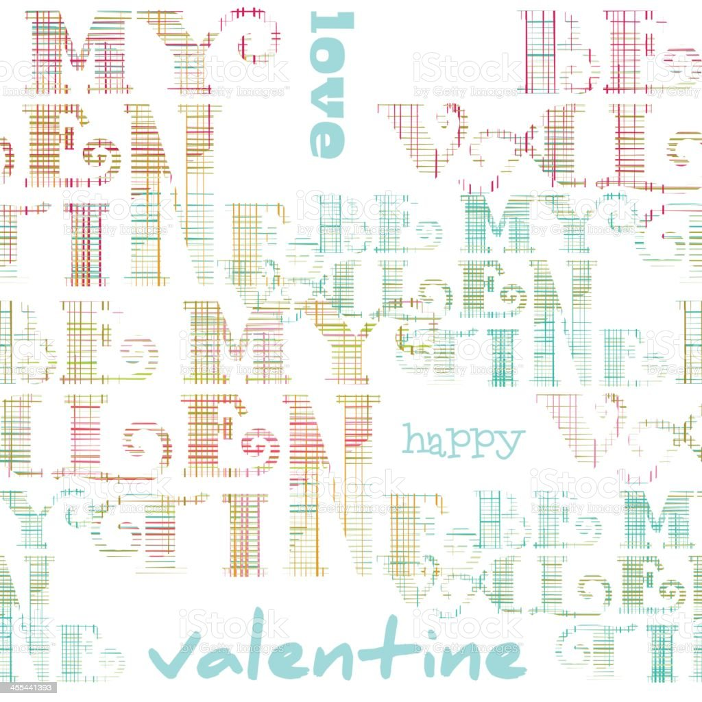 Valentine's text pattern background royalty-free valentines text pattern background stock vector art & more images of abstract