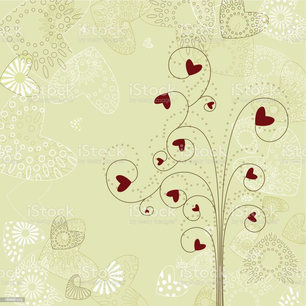 Valentine's tree royalty-free stock vector art