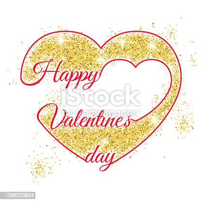 istock Valentinesday background lettering, heart and rose 1298320654