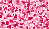 Happy Valentines Day Background. Abstract hearts for Valentines Day Background Design. Vector illustration.