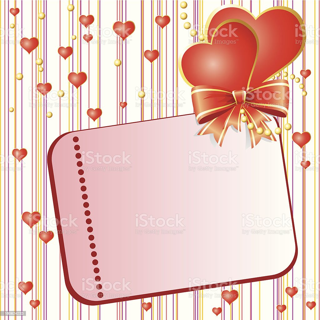 Valentins Day card royalty-free stock vector art