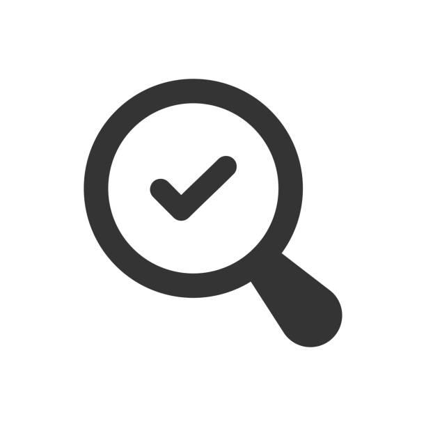 suchsymbol validieren - korrekturlesen stock-grafiken, -clipart, -cartoons und -symbole
