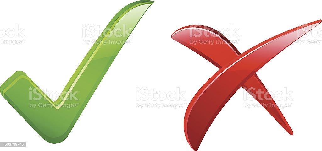 Validation mark vector art illustration