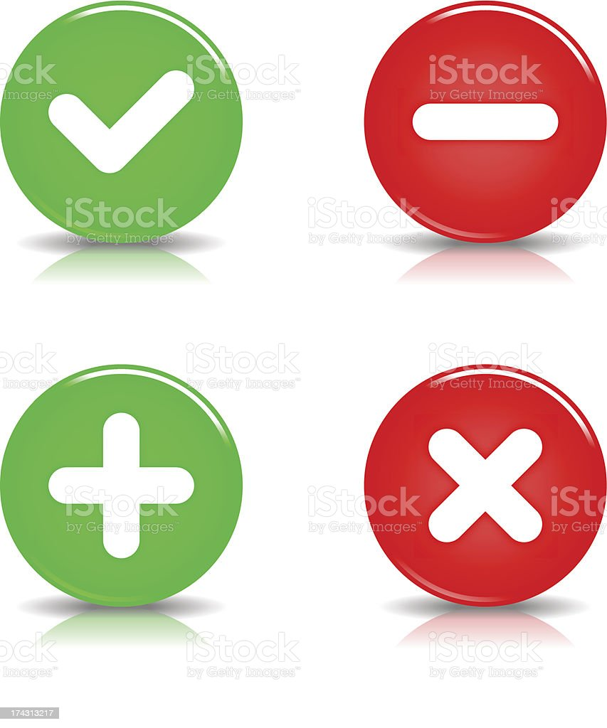 Validation sign glossy circle icon red green button shadow reflection royalty-free validation sign glossy circle icon red green button shadow reflection stock vector art & more images of achievement