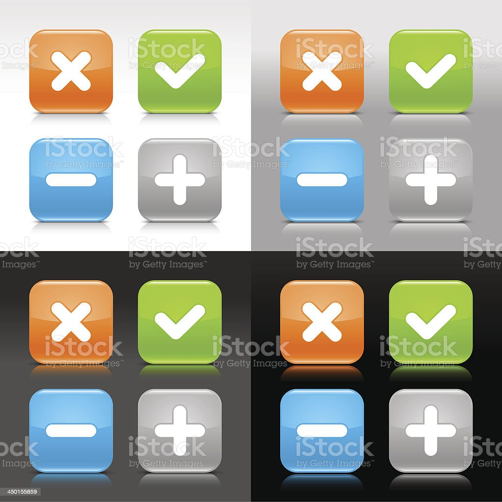 Validation sign orange green blue gray glossy square button royalty-free validation sign orange green blue gray glossy square button stock vector art & more images of achievement
