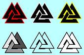 Valknut  symbol, Triangle icon,