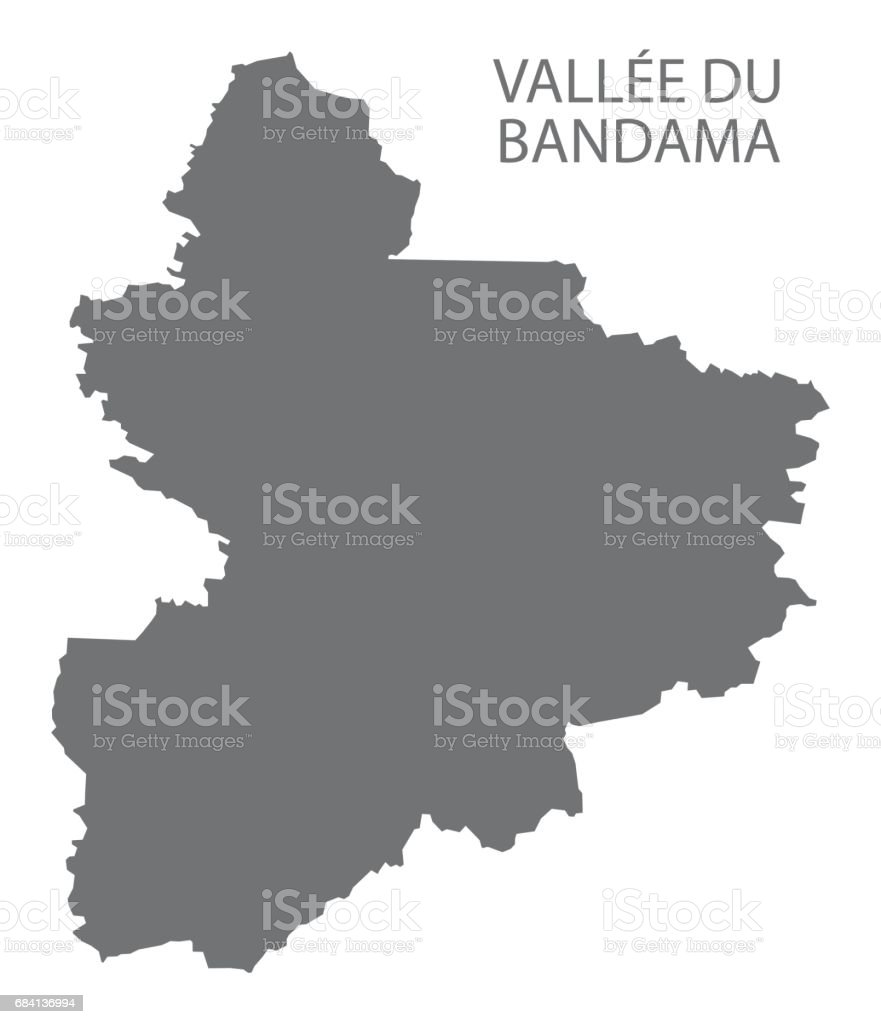 Vallee du Bandama Ivory Coast map grey illustration silhouette vallee du bandama ivory coast map grey illustration silhouette - immagini vettoriali stock e altre immagini di carta geografica royalty-free