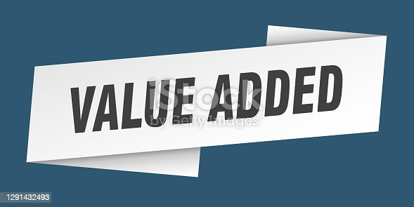 value added banner template. value added ribbon label sign