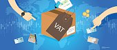 VAT Value Added Taxes concept