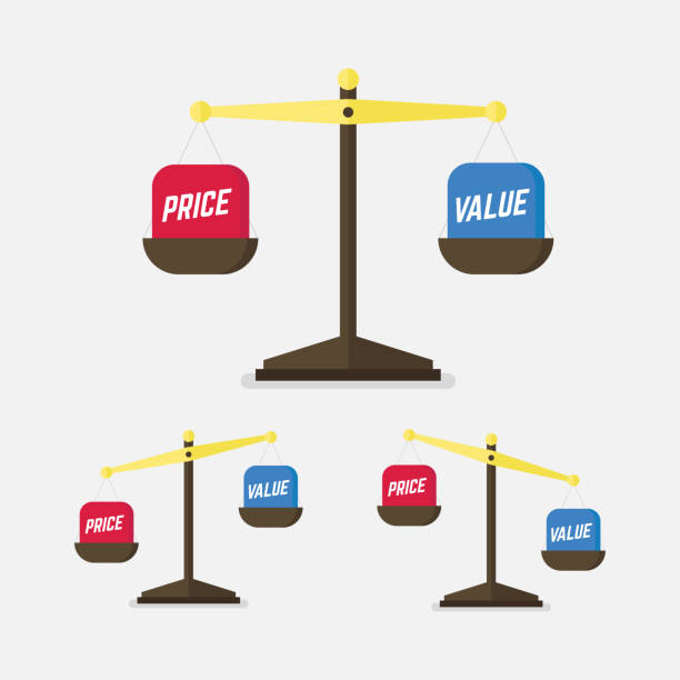 Value And Balance In Art : Royalty free pricing strategy clip art vector images