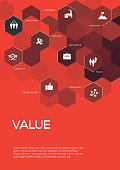 Value. Brochure Template Layout, Cover Design