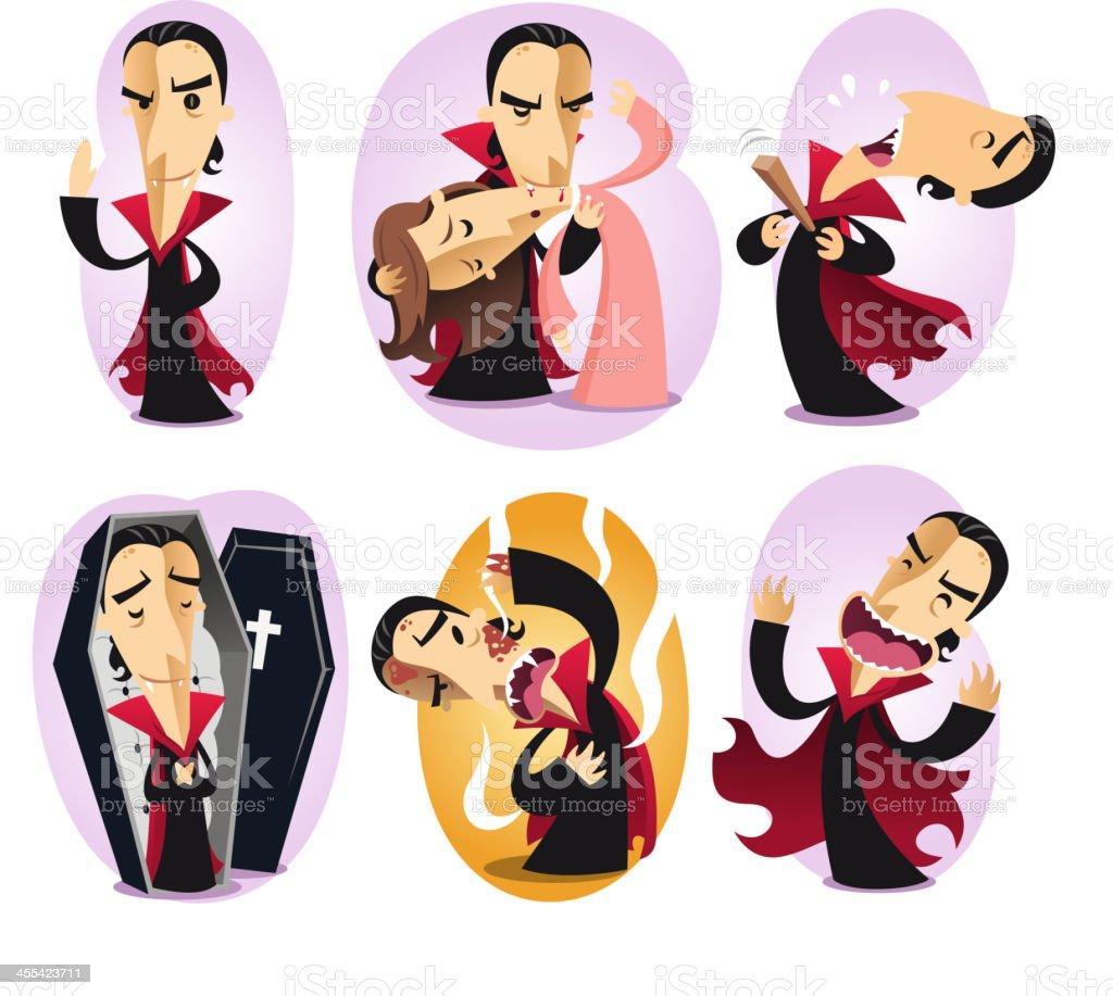 Vampire action set royalty-free stock vector art