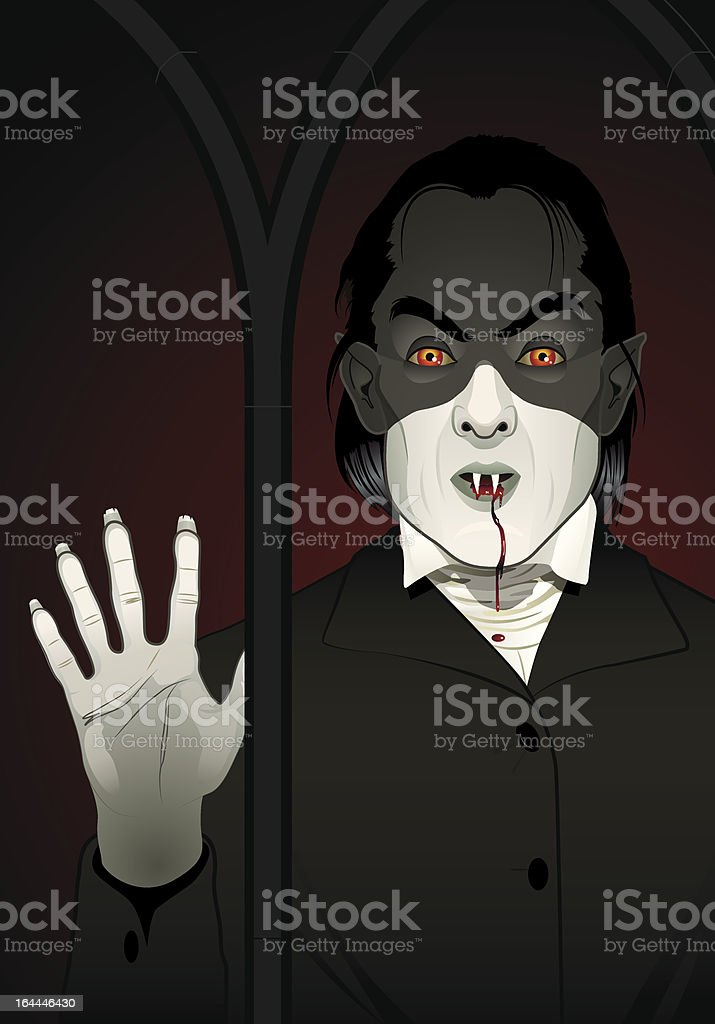 Vampire at the Window - Text Friendly royalty-free vampire at the window text friendly stock vector art & more images of ancient