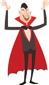 Vampire Dracula Halloween vector illustration. Funny character