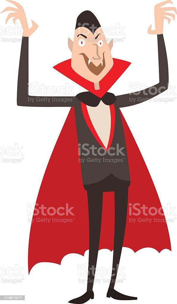 Vampire Dracula Halloween vector illustration. Funny character vector art illustration