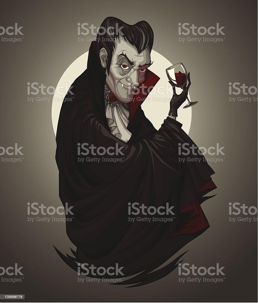 Vampire Dracula vector art illustration