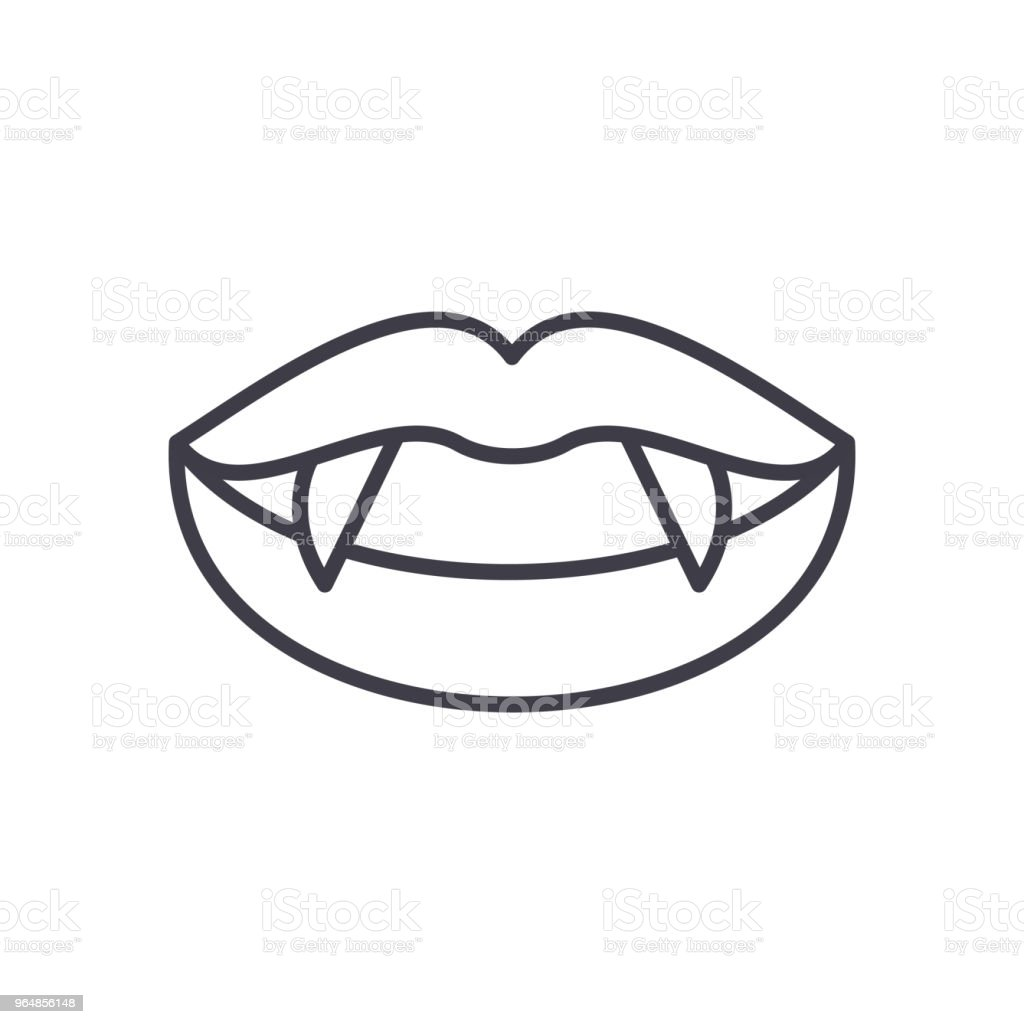 Vampire fangs black icon concept. Vampire fangs flat  vector symbol, sign, illustration. royalty-free vampire fangs black icon concept vampire fangs flat vector symbol sign illustration stock vector art & more images of animal