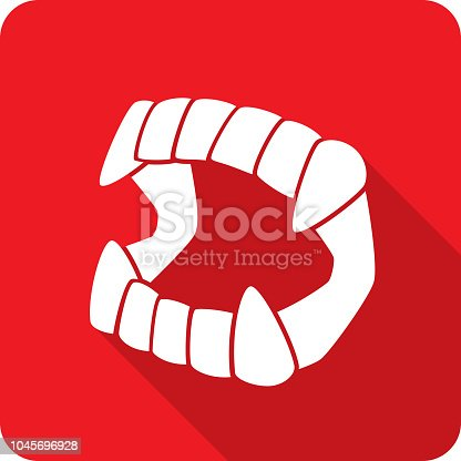 istock Vampire Fangs Toy Icon Silhouette 1045696928
