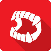 Vampire Fangs Toy Icon Silhouette