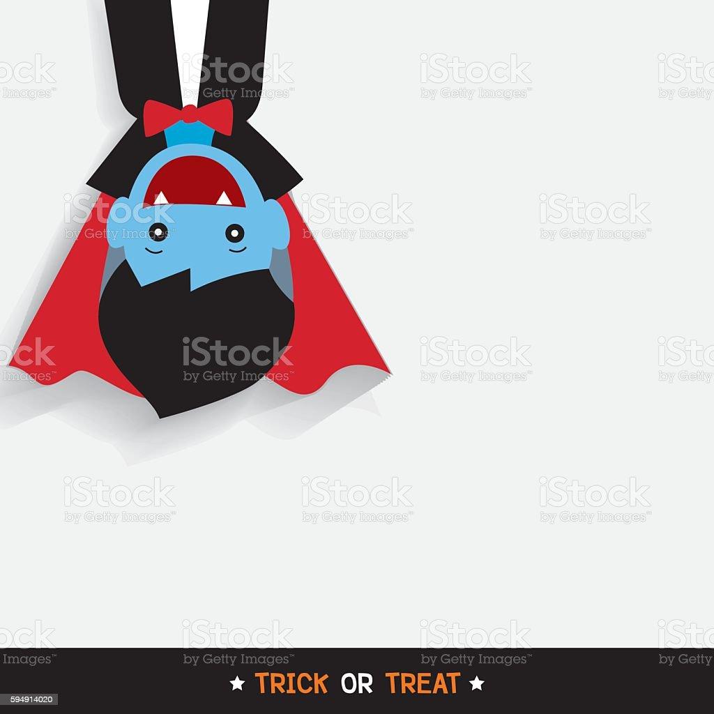 vampire halloween vector art illustration