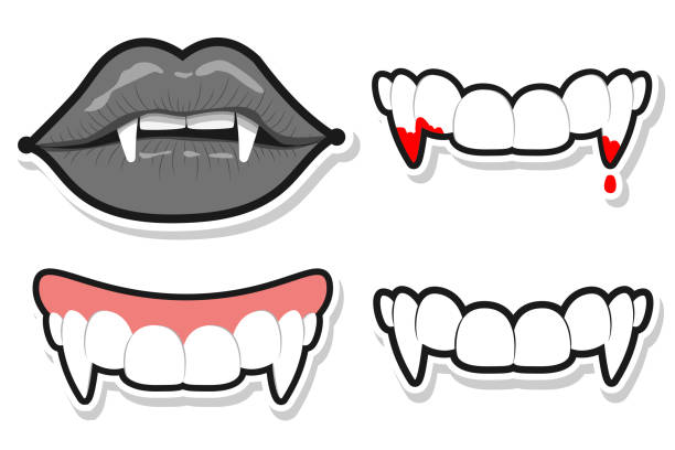 Halloween Vampire Fangs Clipart.Best Vampire Fangs Illustrations Royalty Free Vector Graphics