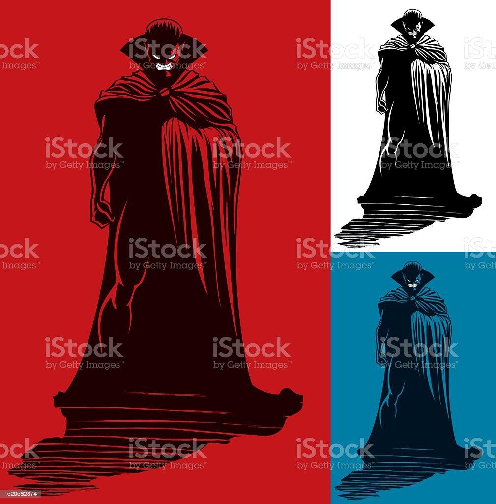 Vampire vector art illustration
