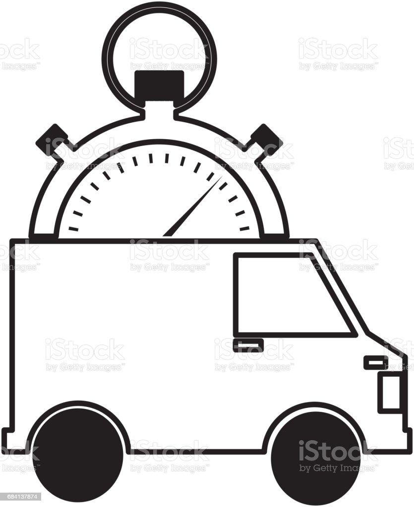 van and compass delivery service icon van and compass delivery service icon - stockowe grafiki wektorowe i więcej obrazów biznes royalty-free
