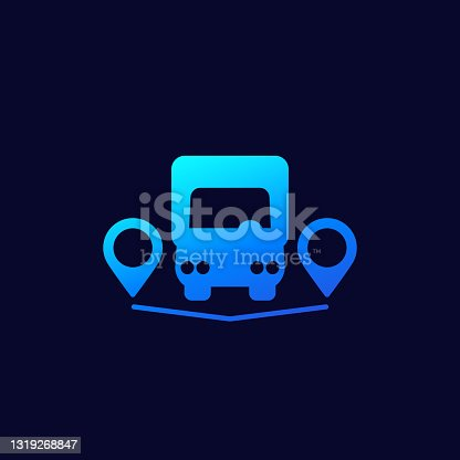istock van and delivery points icon 1319268847