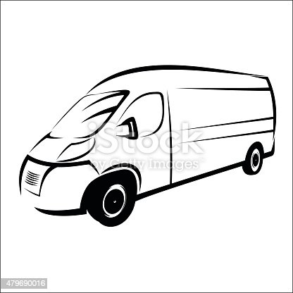 Van Symbol Stock Vector Art & More Images of 2015