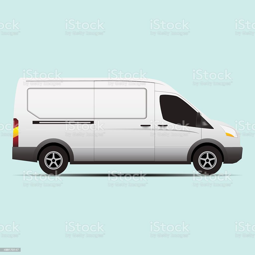 van transport vector concept vector art illustration