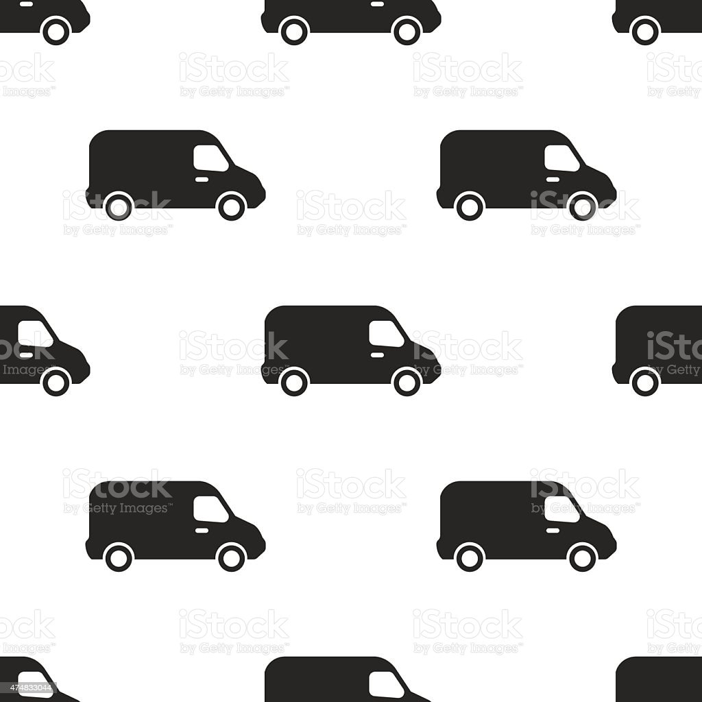 van, vector seamless pattern vector art illustration