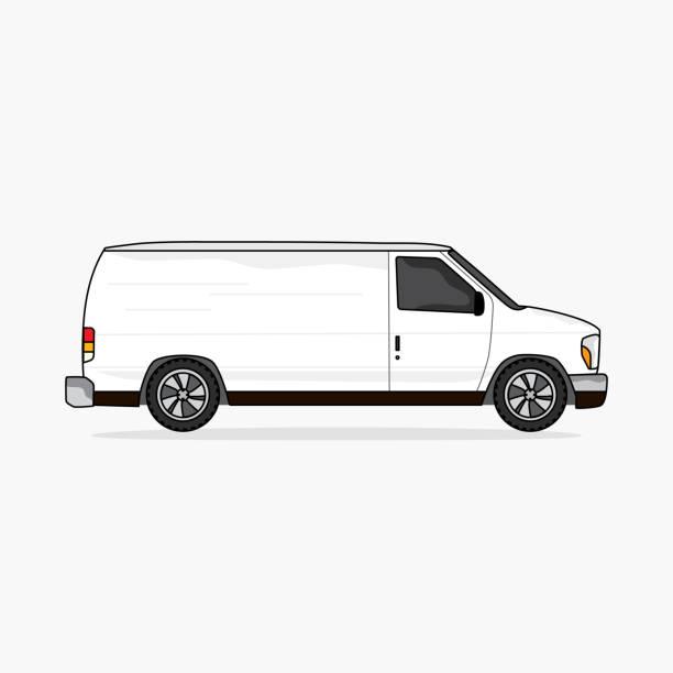 transporter, fahrzeug für den transport - van stock-grafiken, -clipart, -cartoons und -symbole