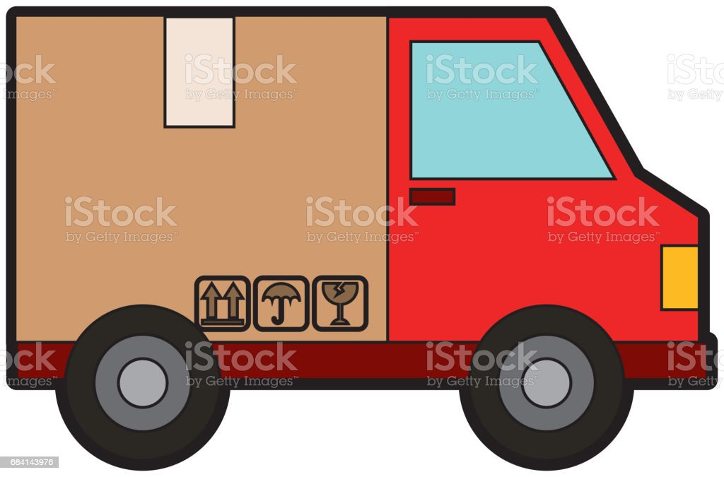 van with box delivery service icon royalty-free van with box delivery service icon stock vector art & more images of badge