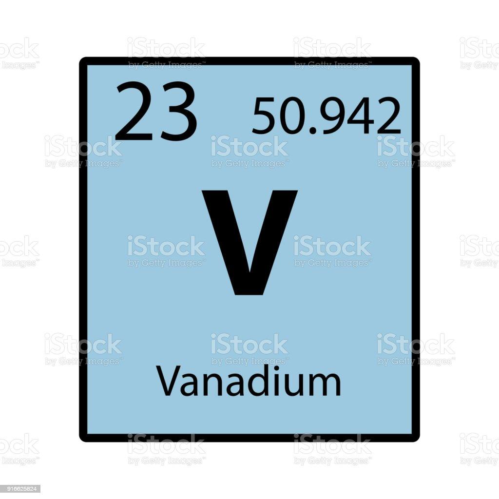 Ilustracin de icono de color de elemento vanadio tabla peridica en icono de color de elemento vanadio tabla peridica en vector de fondo blanco ilustracin de icono urtaz Image collections
