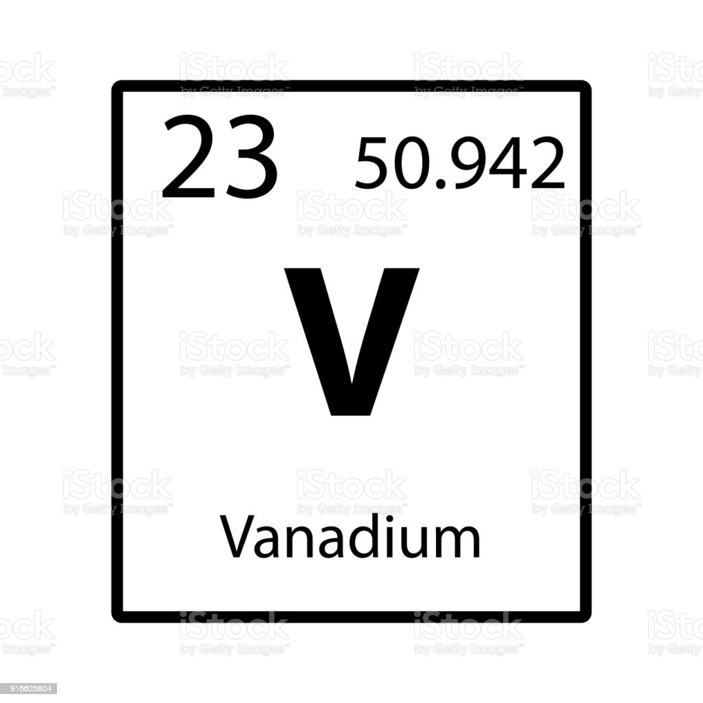 Symbol of vanadium choice image symbols and meanings chart - Vanadium symbol periodic table ...