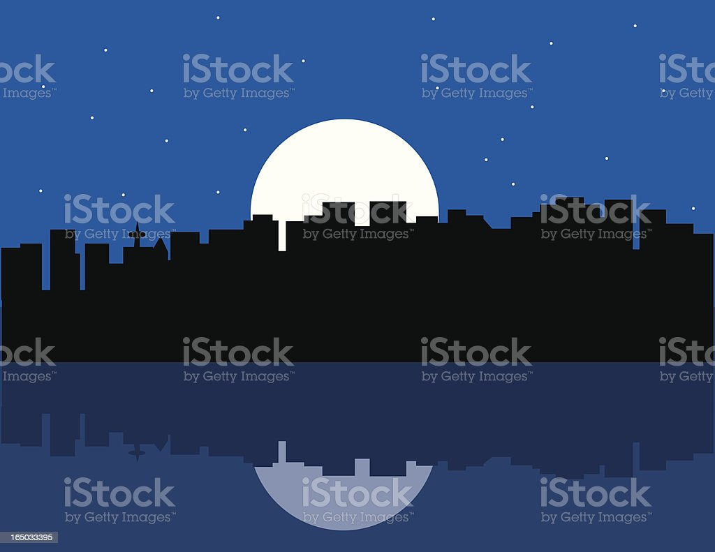 Vancouver at night royalty-free vancouver at night stock vector art & more images of building exterior