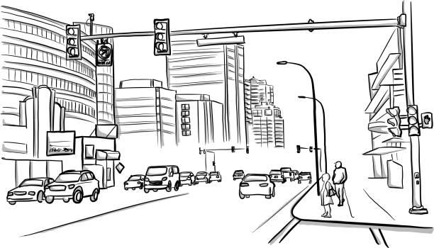ilustrações de stock, clip art, desenhos animados e ícones de vancouver street - carro na rua