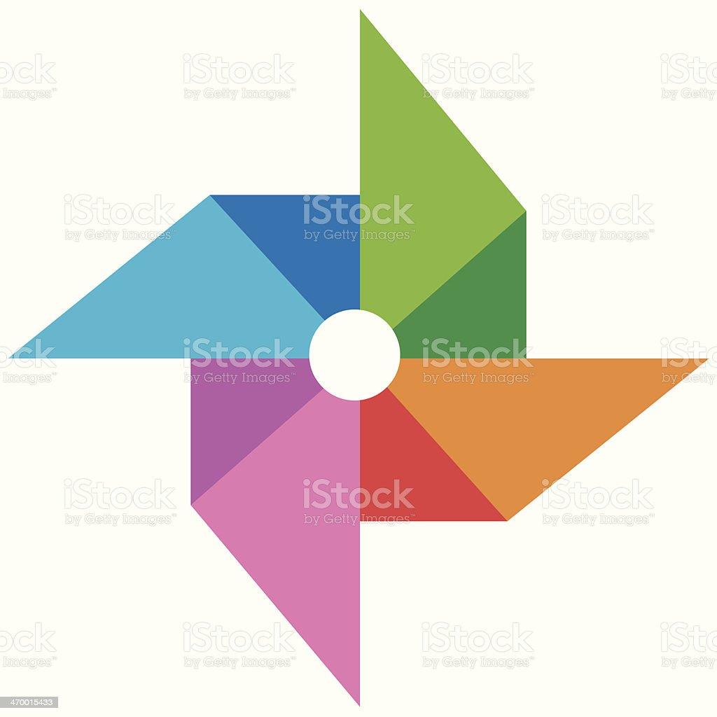 vane paper full color vector vector art illustration
